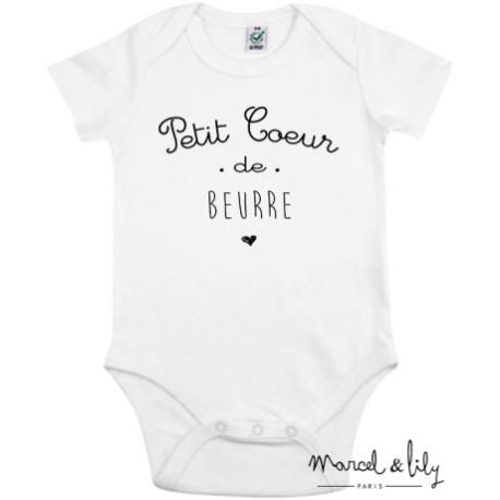 Body Petit coeur de beurre - 0/3 mois