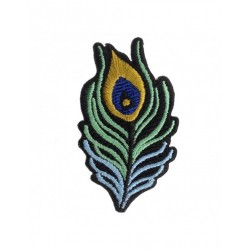 Badge brodé plume