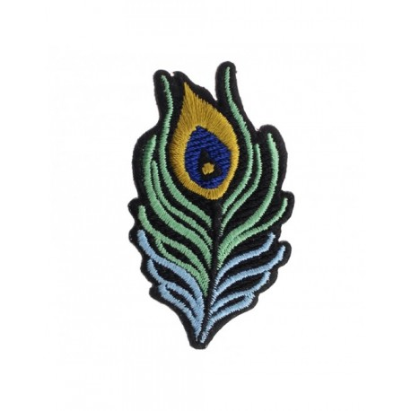 Badge brodé plume