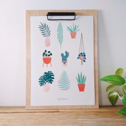 Affiche A4 Plant lovers