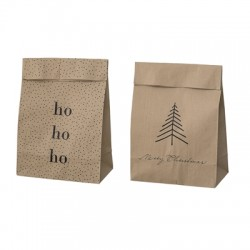 Paper bag Merry Christmas et Ho ho ho