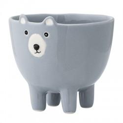 Pot ours bleu