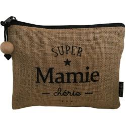 Trousse Mamie chérie en jute