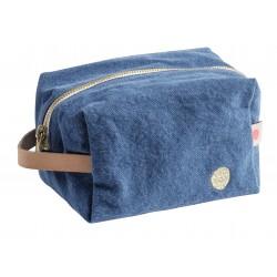 Pochette zippée cube blueberry