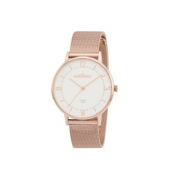 Montre Colette Maille milanaise- or rose/cad blanc