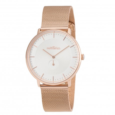 Montre L'Amoureuse Maille milanaise or rose