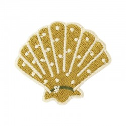 Badge brodé Coquillage