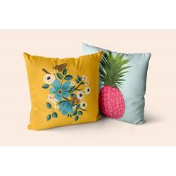 Coussin Ananas fleuri
