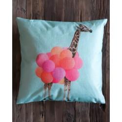 Coussin Girafe et ballons