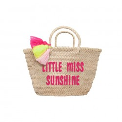 Petit panier brodé Little miss sunshine