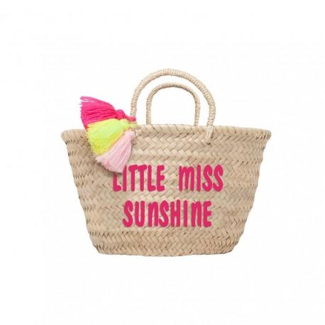 Petit panier brodé Little miss sunshine