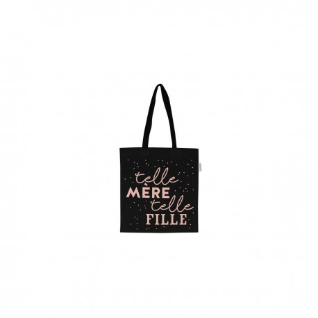 Mini tote-bag Telle mère telle fille - rose