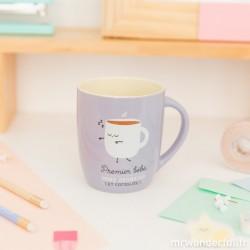 Mug Premier bébé, mère heureuse - violet