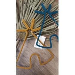 Tipi en tricotin - Moutarde