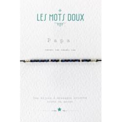 Bracelet simple Papa marine et noir