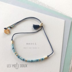 Bracelet simple Merci bleu