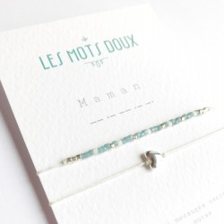 Bracelet double Maman bleu