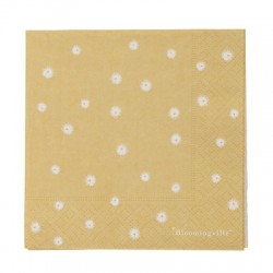 Serviettes en papier Jaune à fleurs