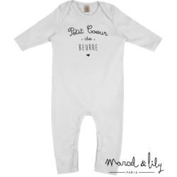 Grenouillère Coeur de beurre - 6/12 mois