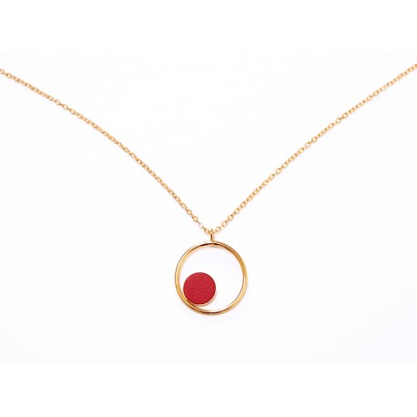 Collier Gallica ring - Rouge