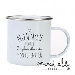 Tasse émaillée Nounou adorée