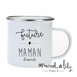 Tasse émaillée Future maman