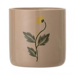 Pot de fleurs fond pêche 9.5cm