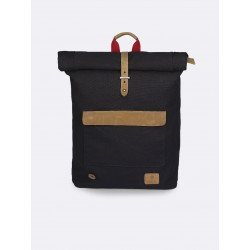 Sac-à-dos Cycling coton Navy doublure rouge