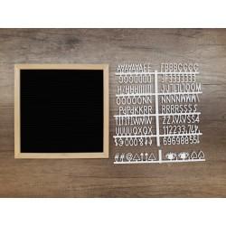 Letter board carré - noir