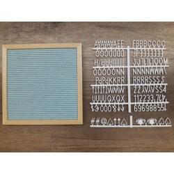 Letter board carré - menthe