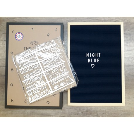 Letter board BIG - night blue