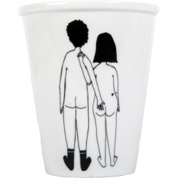 Tasse Couple nu de dos