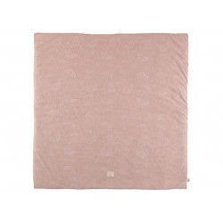 Tapis de jeu carré - white bubble/misty pink