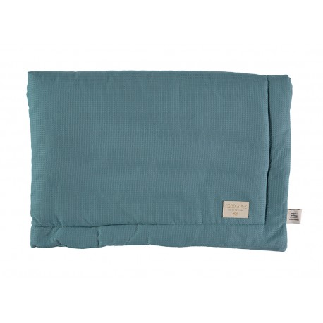 Petite couverture nid d'abeille Magic green