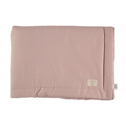 Petite couverture nid d'abeille Misty pink