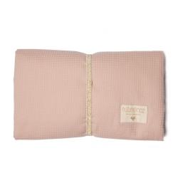 Matelas à langer nid d'abeille - Misty pink