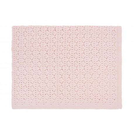 Couverture dentelle rose clair