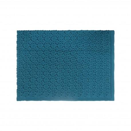 Couverture dentelle bleu surf