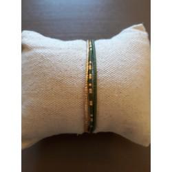 Bracelet Perrine kaki mat
