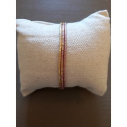 Bracelet Perrine pink metal