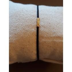 Bracelet perles carré noir