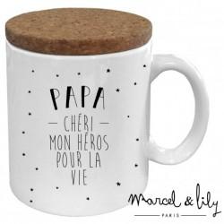 Mug avec couvercle Papa chéri