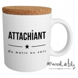 Mug avec couvercle Attachiant