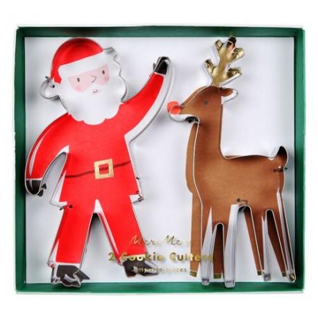 Set de 2 emporte-pièces de Noël