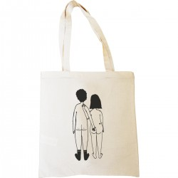 Tote-bag Couple nu de dos
