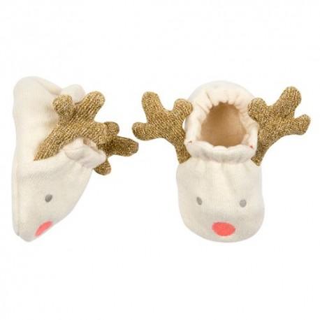 Chaussons pour bébé tête de renne