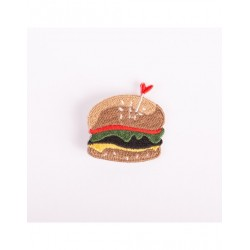 Badge brodé burger
