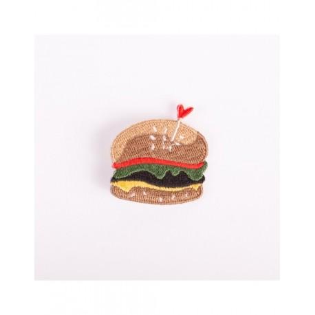 Badge brodé burger