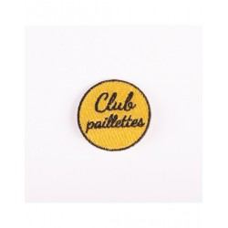 Badge brodé club paillettes