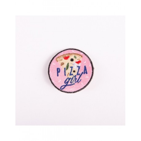 Badge brodé pizza girl